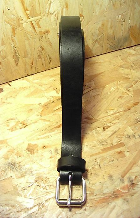 cintura cuoio singola nera modello classico max cuoio torino