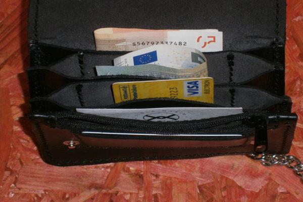 portafoglio nero aperto classico max cuoio torino