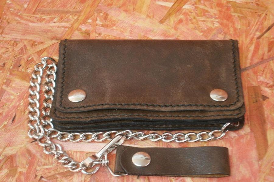 super popolare af9d6 903b6 Portafoglio pocket in pelle marrone con tre tasche